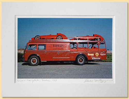Join the Members Suite, and receive this framed print of a Ferrari Transport.