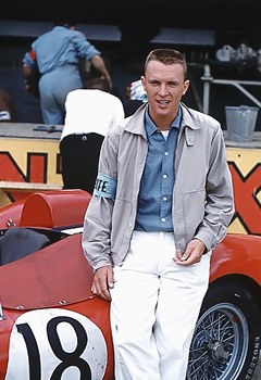 Dan Gurney at LeMans, photo by Denise McCluggage.